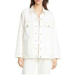 Eileen Fisher Classic White Denim Jacket